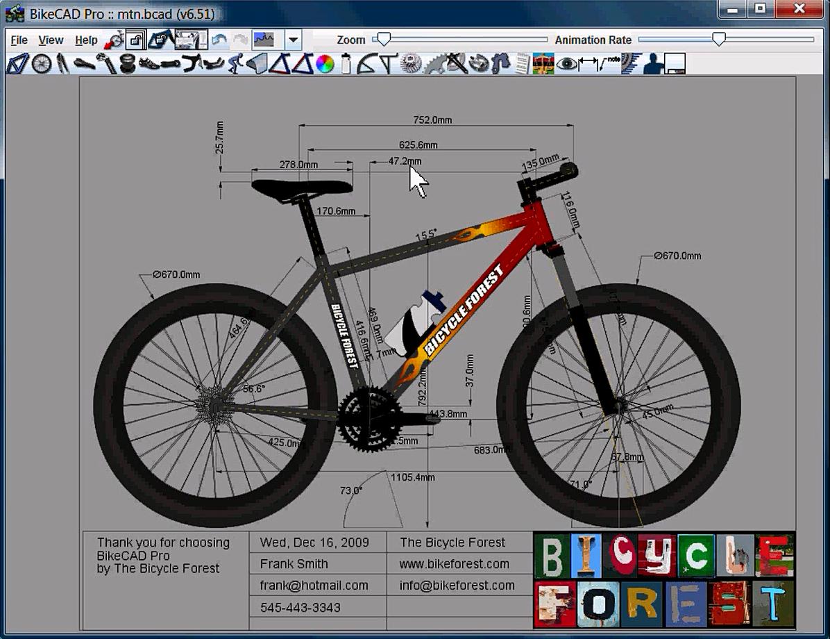 Templates in BikeCAD Pro | www.bikecad.ca